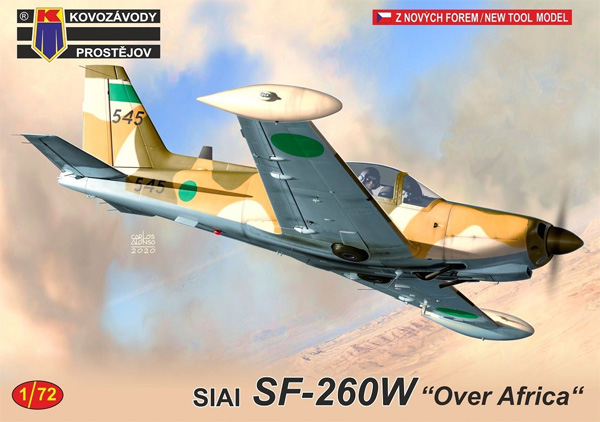 SIAI SF-260W アフリカ上空プラモデル(KPモデル1/72 エアクラフト プラモデルNo.KPM0210)商品画像