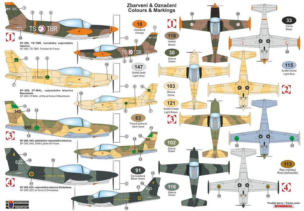 SIAI SF-260W アフリカ上空プラモデル(KPモデル1/72 エアクラフト プラモデルNo.KPM0210)商品画像_2