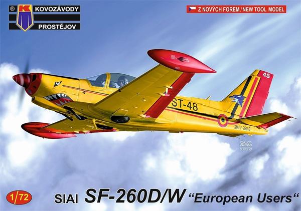 SIAI SF-260D/W ヨーロッパプラモデル(KPモデル1/72 エアクラフト プラモデルNo.KPM0212)商品画像