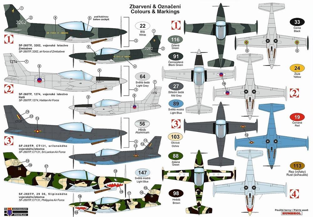 SIAI SF-260TP 軽攻撃機型プラモデル(KPモデル1/72 エアクラフト プラモデルNo.KPM0214)商品画像_2