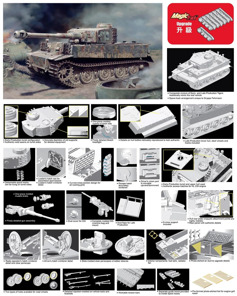 Sd.Kfz.181 ティーガー 1 フェールマン戦闘団プラモデル(ドラゴン1/35 39-45 SeriesNo.6484)商品画像_1