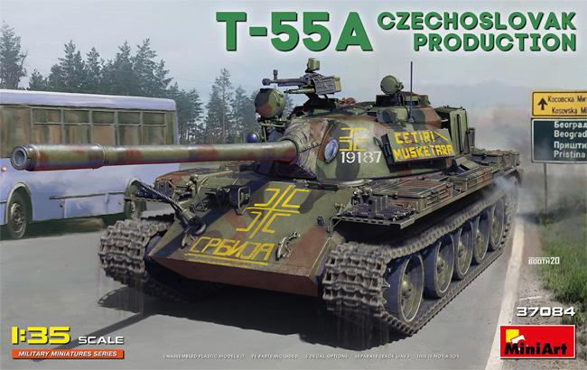 T-55A チェコスロバキア製プラモデル(ミニアート1/35 ミリタリーミニチュアNo.37084)商品画像