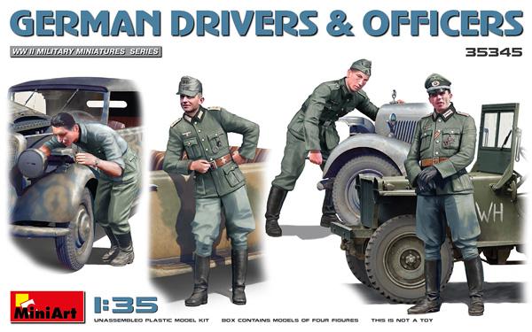 ドイツ兵 ドライバー & 士官プラモデル(ミニアート1/35 WW2 ミリタリーミニチュアNo.35345)商品画像