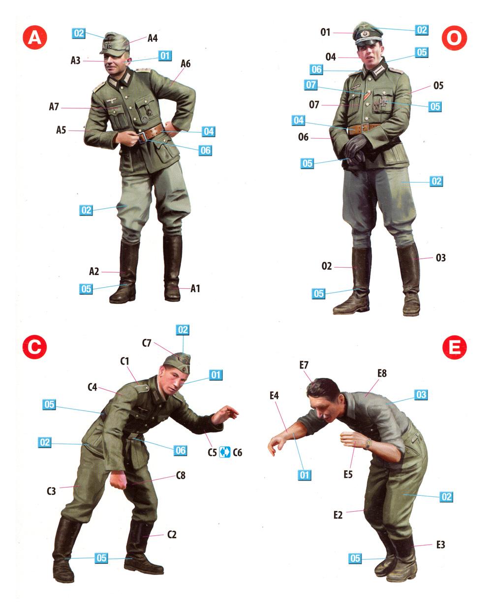 ドイツ兵 ドライバー & 士官プラモデル(ミニアート1/35 WW2 ミリタリーミニチュアNo.35345)商品画像_1
