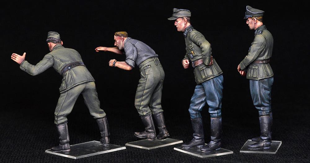 ドイツ兵 ドライバー & 士官プラモデル(ミニアート1/35 WW2 ミリタリーミニチュアNo.35345)商品画像_3