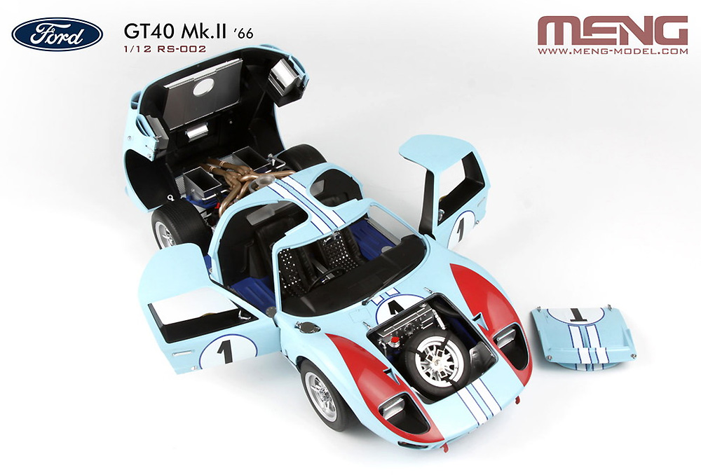 フォード GT40 Mk.2 '66プラモデル(MENG-MODELカー シリーズNo.MRS002)商品画像_1