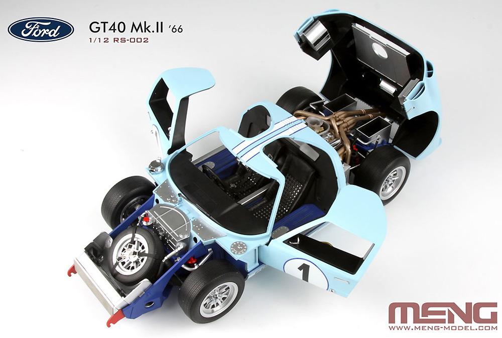 フォード GT40 Mk.2 '66プラモデル(MENG-MODELカー シリーズNo.MRS002)商品画像_2