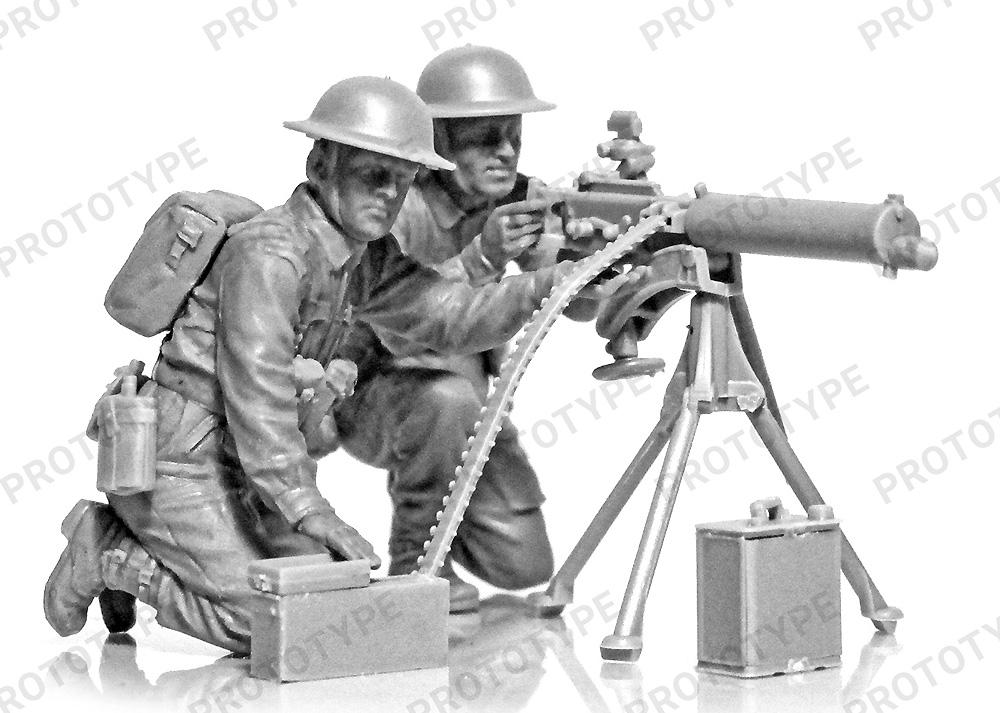 WW2 イギリス ヴィッカース 重機関銃クループラモデル(ICM1/35 ミリタリービークル・フィギュアNo.35646)商品画像_1
