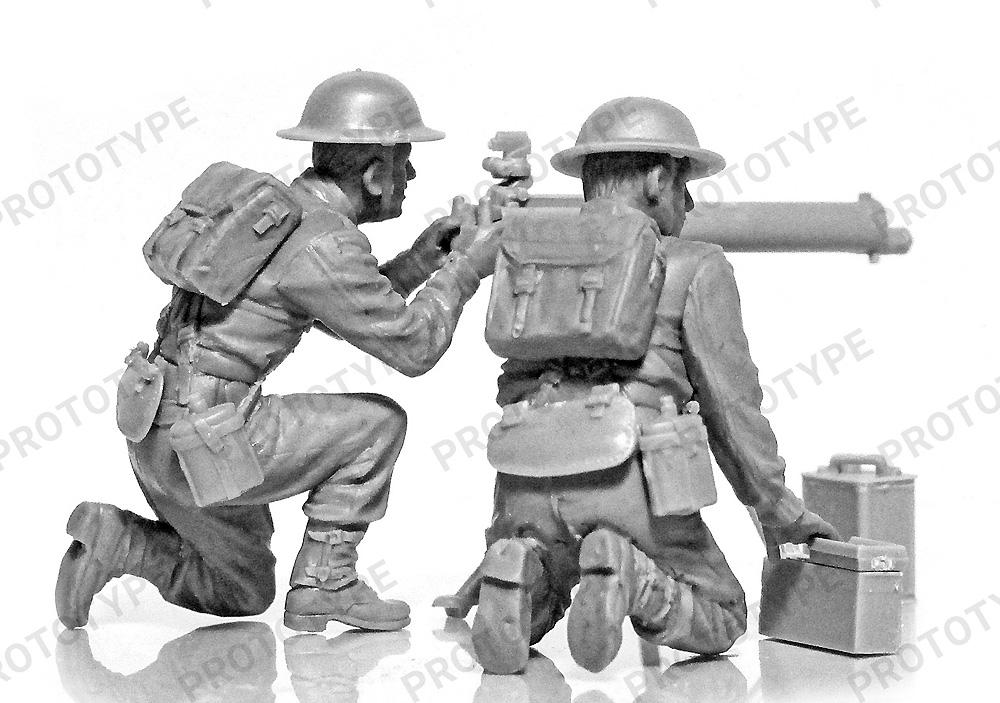 WW2 イギリス ヴィッカース 重機関銃クループラモデル(ICM1/35 ミリタリービークル・フィギュアNo.35646)商品画像_2