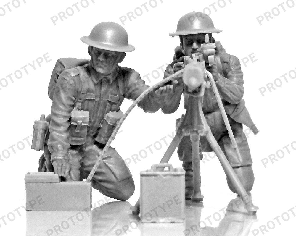 WW2 イギリス ヴィッカース 重機関銃クループラモデル(ICM1/35 ミリタリービークル・フィギュアNo.35646)商品画像_3