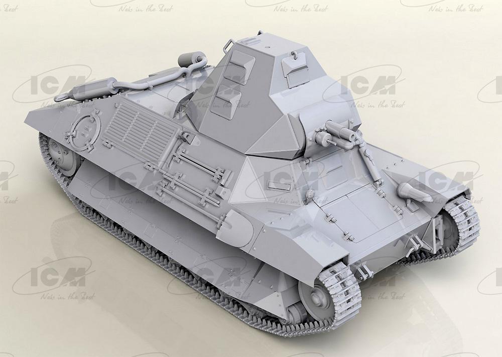 FCM36 WW2 フランス 軽戦車プラモデル(ICM1/35 ミリタリービークル・フィギュアNo.35336)商品画像_1