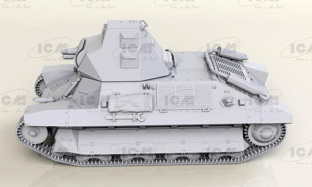 FCM36 WW2 フランス 軽戦車プラモデル(ICM1/35 ミリタリービークル・フィギュアNo.35336)商品画像_2