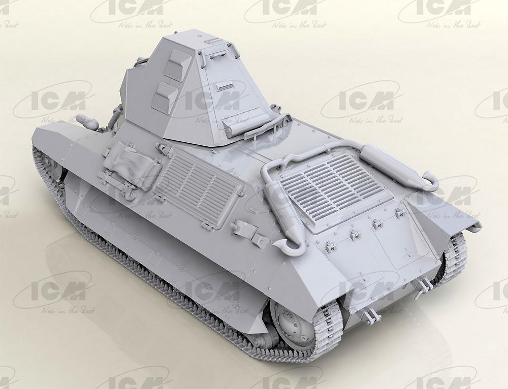 FCM36 WW2 フランス 軽戦車プラモデル(ICM1/35 ミリタリービークル・フィギュアNo.35336)商品画像_3