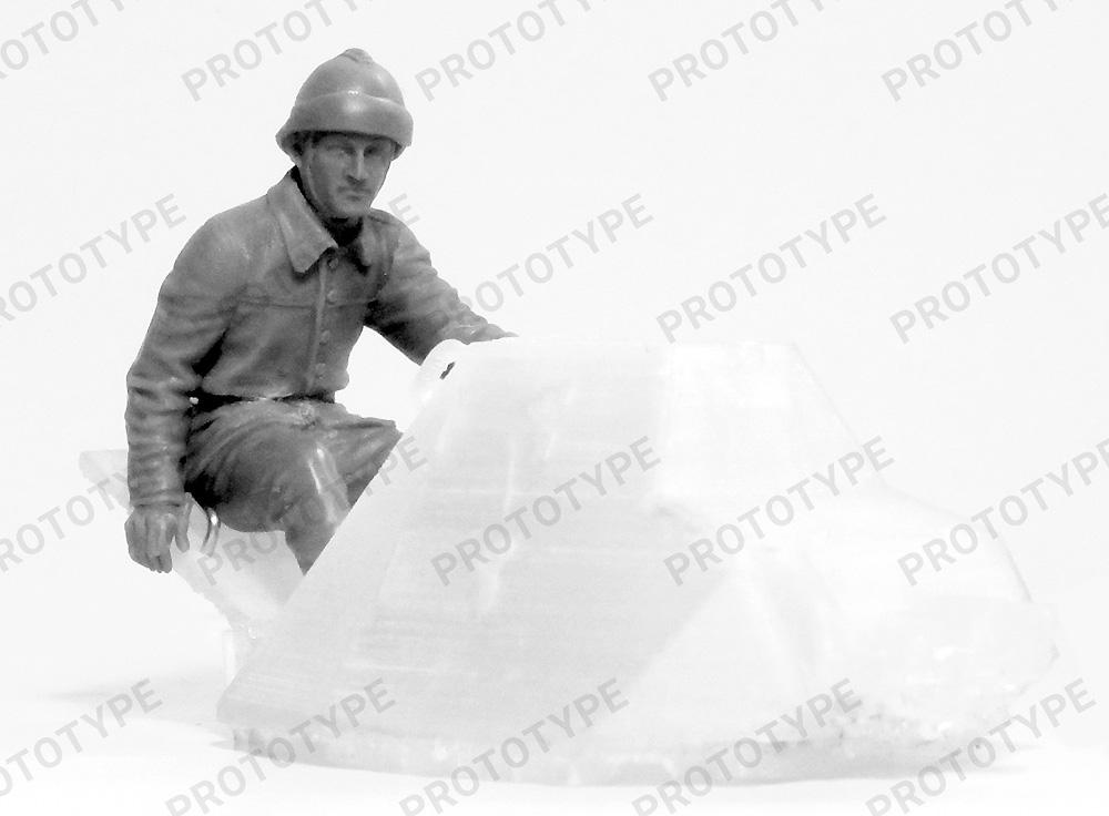 WW2 フランス タンククループラモデル(ICM1/35 ミリタリービークル・フィギュアNo.35647)商品画像_2