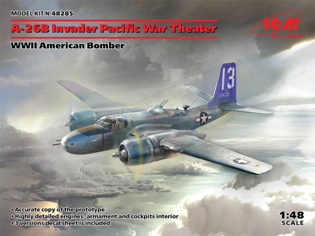 A-26B インベ-ダー 太平洋戦争プラモデル(ICM1/48 エアクラフト プラモデルNo.48285)商品画像