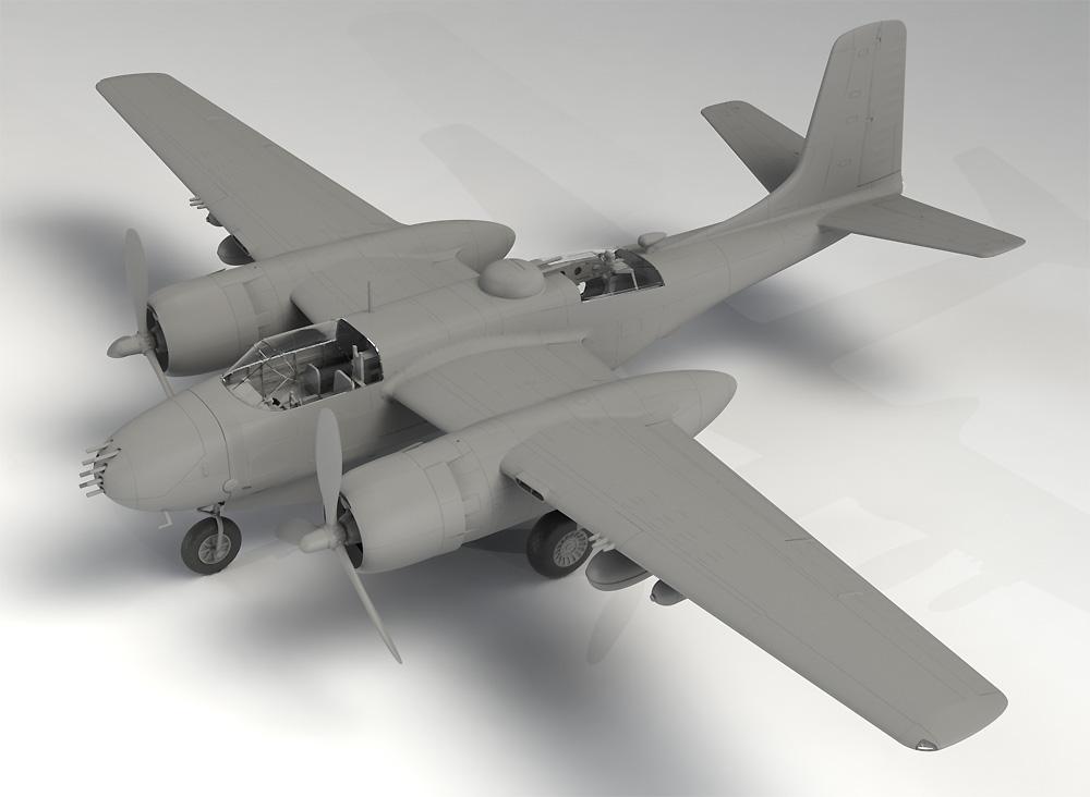 A-26B インベ-ダー 太平洋戦争プラモデル(ICM1/48 エアクラフト プラモデルNo.48285)商品画像_1