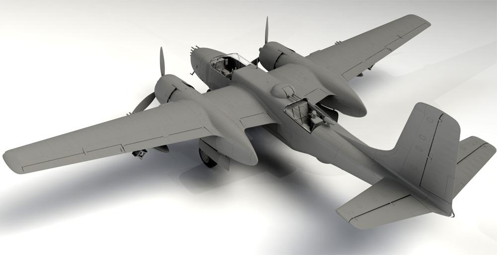 A-26B インベ-ダー 太平洋戦争プラモデル(ICM1/48 エアクラフト プラモデルNo.48285)商品画像_2