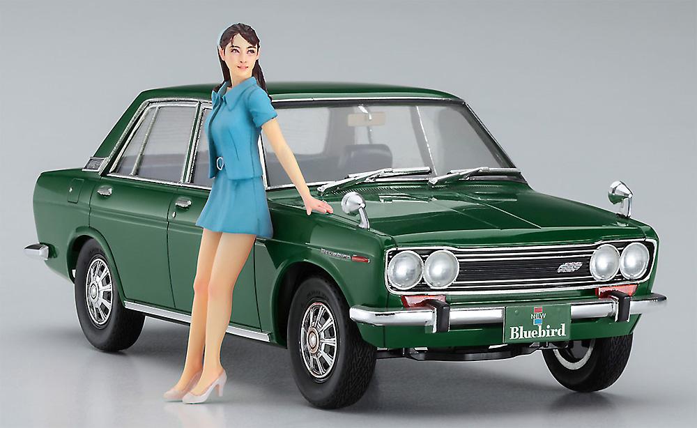 ダットサン ブルーバード 1600 SSS w/60's ガールズフィギュアプラモデル(ハセガワ1/24 自動車 限定生産No.SP477)商品画像_2