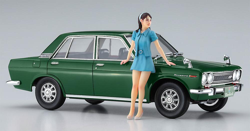 ダットサン ブルーバード 1600 SSS w/60's ガールズフィギュアプラモデル(ハセガワ1/24 自動車 限定生産No.SP477)商品画像_3