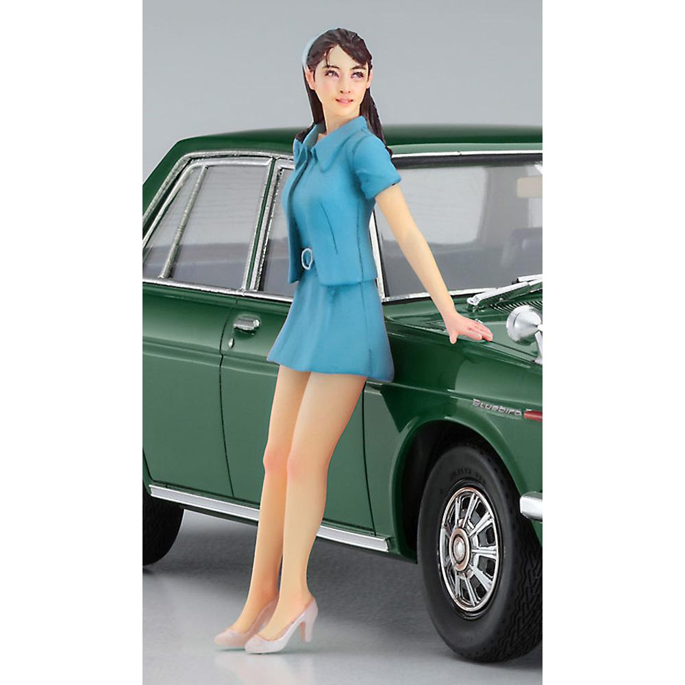 ダットサン ブルーバード 1600 SSS w/60's ガールズフィギュアプラモデル(ハセガワ1/24 自動車 限定生産No.SP477)商品画像_4