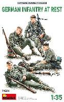 ミニアート1/35 WW2 ミリタリーミニチュアドイツ歩兵 休息中