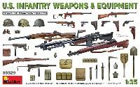 ミニアート1/35 WW2 ミリタリーミニチュアアメリカ軍 歩兵用武器 & 装備品セット