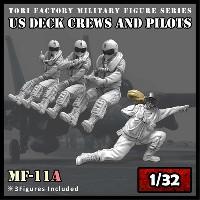 トリファクトリーMILITARY FIGURE SERIES現用 アメリカ海軍 デッキクルー & パイロット