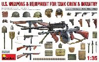 ミニアート1/35 WW2 ミリタリーミニチュアアメリカ 戦車兵&歩兵用 武器 装備品セット