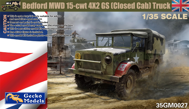 ベッドフォード MWD 15-cwt 4x2 GS トラック (クローズドキャビン) w/キャンバスカバープラモデル(ゲッコーモデル1/35 ミリタリーNo.35GM0027)商品画像