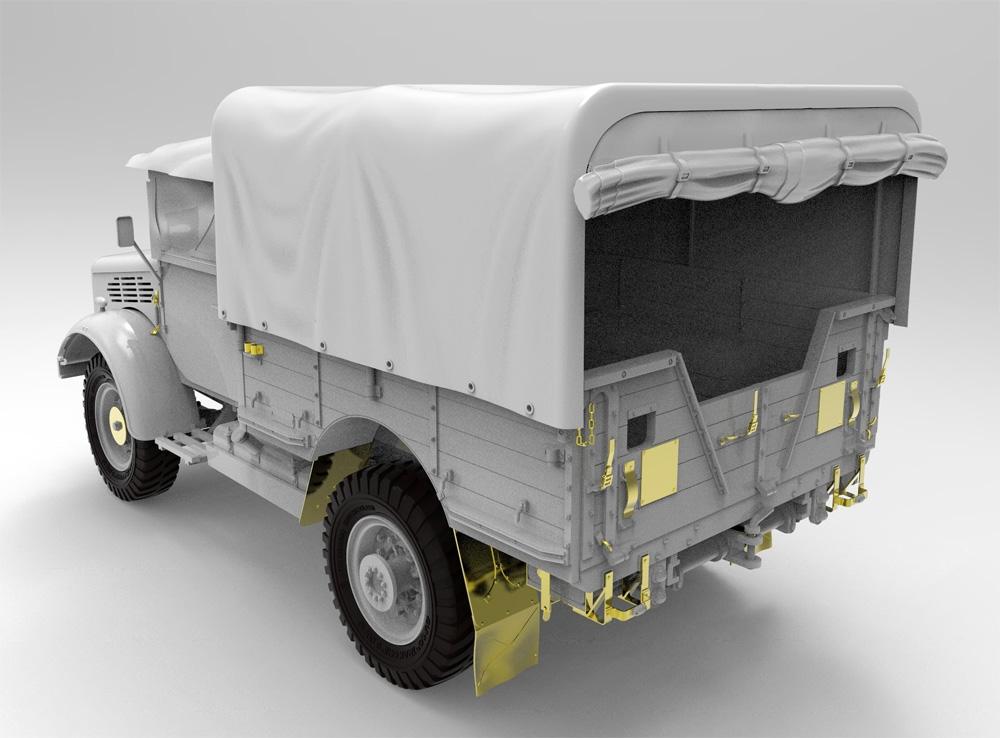ベッドフォード MWD 15-cwt 4x2 GS トラック (クローズドキャビン) w/キャンバスカバープラモデル(ゲッコーモデル1/35 ミリタリーNo.35GM0027)商品画像_1