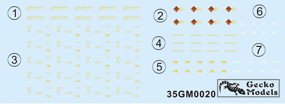 イギリス L31A3 2シェル 105mm弾薬箱 w/パレットプラモデル(ゲッコーモデル1/35 ミリタリーNo.35GM0020)商品画像_2