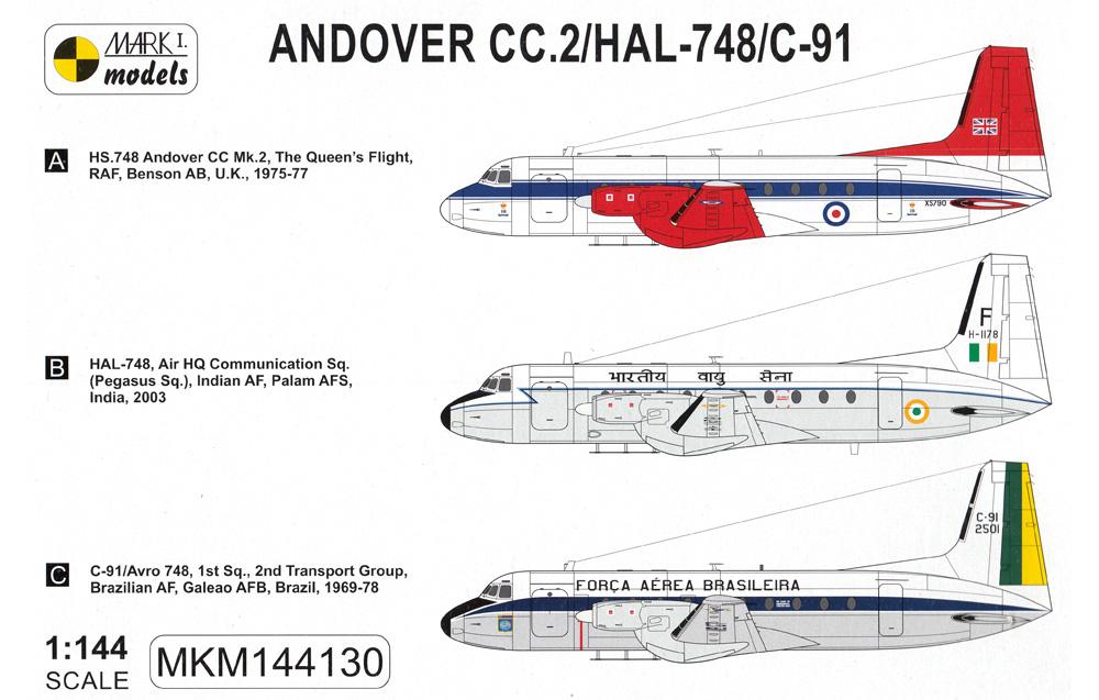 アンドーヴァー CC.2/HAL-748/C-91 VIP機プラモデル(MARK 1MARK 1 modelsNo.MKM144130)商品画像_1
