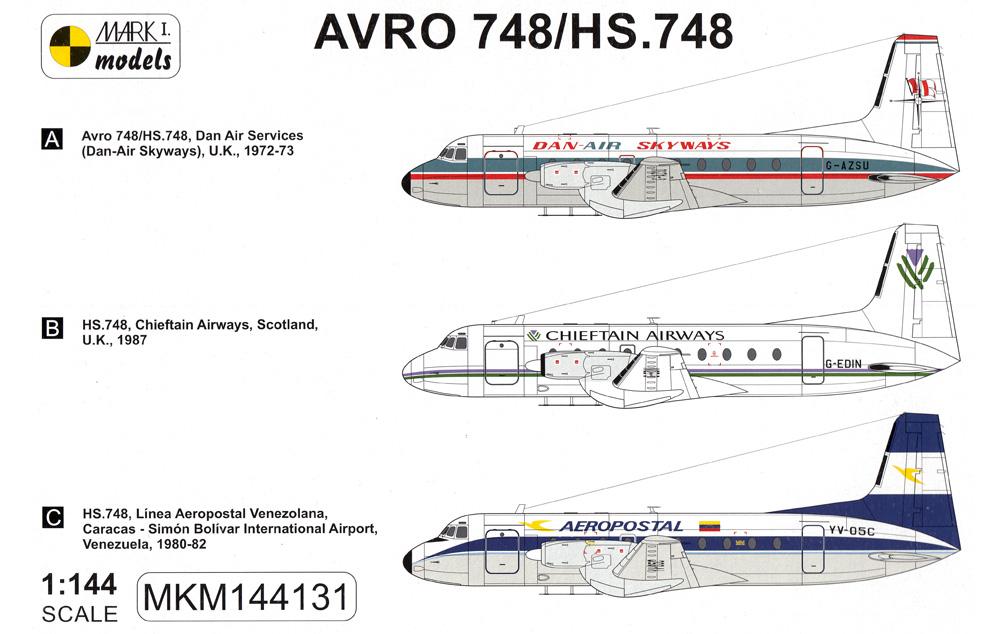 アブロ HS.748/BAE.748 バッジプラモデル(MARK 1MARK 1 modelsNo.MKM144131)商品画像_1