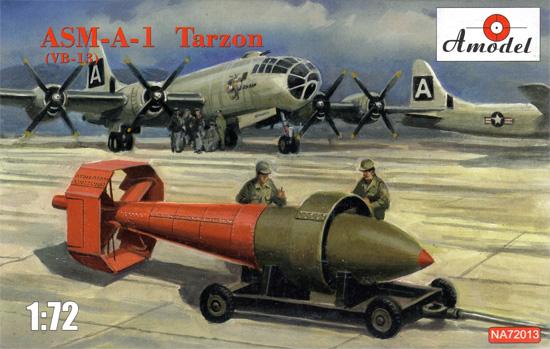 ASM-A-1 ターザン 5,900kg 誘導爆弾 (VB-1B)プラモデル(Aモデル1/72 ミリタリー プラスチックモデルキットNo.NA72013)商品画像