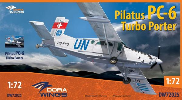 ピラタス PC-6 ターボポータープラモデル(ドラ ウイングス1/72 エアクラフト プラモデルNo.DW72025)商品画像