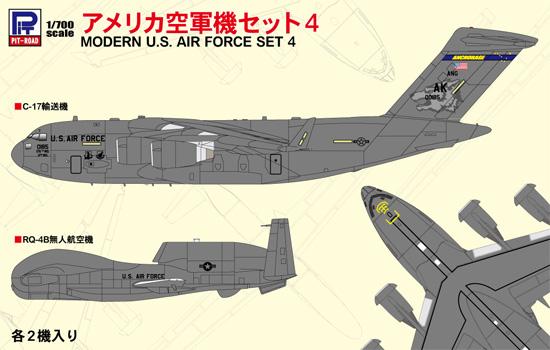 アメリカ空軍機セット 4プラモデル(ピットロードスカイウェーブ S シリーズNo.S058)商品画像