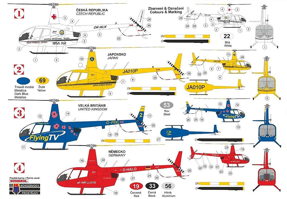 ロビンソン R44 レイブン 2プラモデル(KPモデル1/72 エアクラフト プラモデルNo.KPM0215)商品画像_1