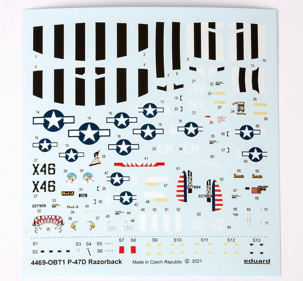 P-47D サンダーボルト レザーバックプラモデル(エデュアルド1/144 SUPER44No.4469)商品画像_2