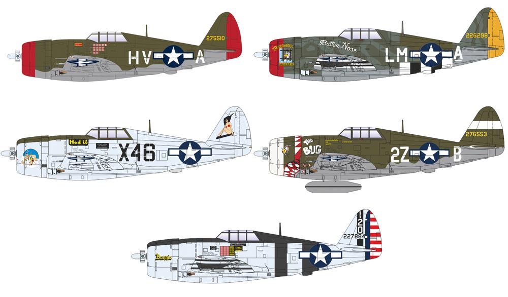 P-47D サンダーボルト レザーバックプラモデル(エデュアルド1/144 SUPER44No.4469)商品画像_3
