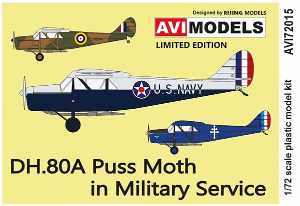 デ・ハビランド DH.80A プス・モス  軍用機プラモデル(AVIモデル1/72 エアクラフト プラモデルNo.AVI72015)商品画像