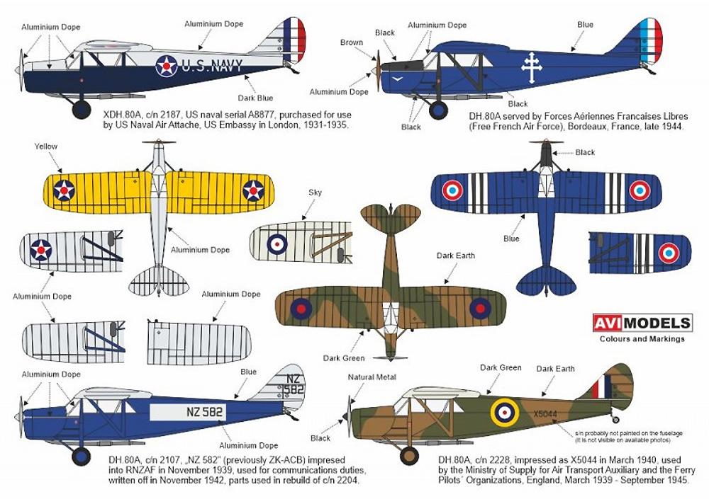 デ・ハビランド DH.80A プス・モス  軍用機プラモデル(AVIモデル1/72 エアクラフト プラモデルNo.AVI72015)商品画像_1