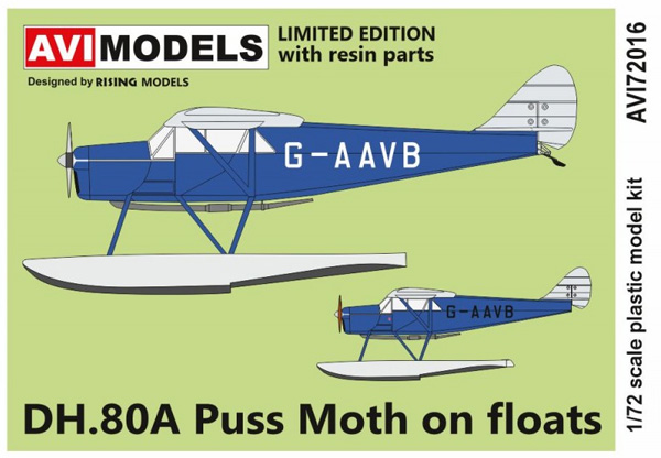 デ・ハビランド DH.80A プス・モス  水上機プラモデル(AVIモデル1/72 エアクラフト プラモデルNo.AVI72016)商品画像