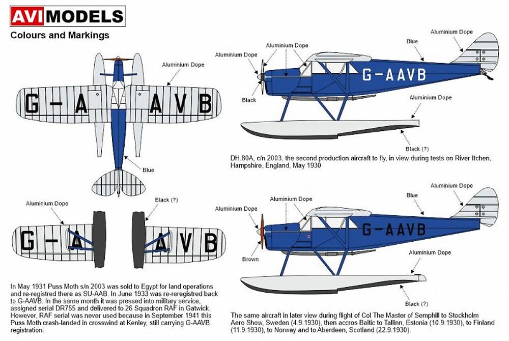 デ・ハビランド DH.80A プス・モス  水上機プラモデル(AVIモデル1/72 エアクラフト プラモデルNo.AVI72016)商品画像_1