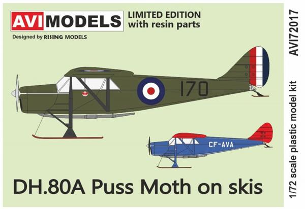 デ・ハビランド DH.80A プス・モス  雪上機プラモデル(AVIモデル1/72 エアクラフト プラモデルNo.AVI72017)商品画像