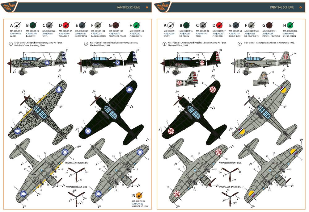 Ki-51 99式襲撃機 満洲国 & 戦後使用機プラモデル(クリアープロップ1/72 スケールモデルNo.CP72013)商品画像_2