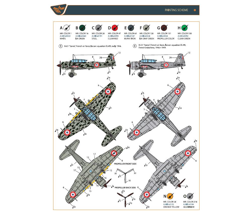 Ki-51 99式襲撃機 満洲国 & 戦後使用機 (2機入)プラモデル(クリアープロップ1/144 スケールモデルNo.CP144003)商品画像_3