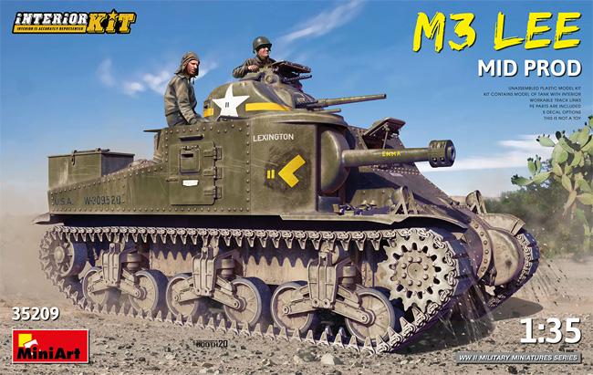 M3 リー 中期型 インテリアキットプラモデル(ミニアート1/35 WW2 ミリタリーミニチュアNo.35209)商品画像