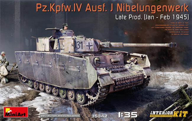 4号戦車J型 ニーベルンゲン工場製 後期型 (1945年1-2月) インテリアキットプラモデル(ミニアート1/35 WW2 ミリタリーミニチュアNo.35342)商品画像