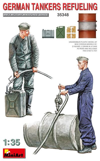 ドイツ兵 燃料補給中プラモデル(ミニアート1/35 WW2 ミリタリーミニチュアNo.35348)商品画像