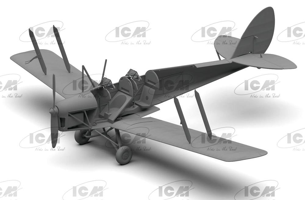 デ・ハビランド DH.82A タイガーモス イギリス練習機プラモデル(ICM1/32 エアクラフトNo.32035)商品画像_3